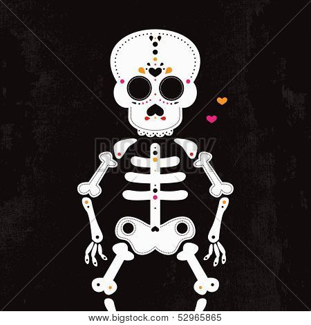 Dead body - Mexican D�­a de los Muertos halloween skull and skeleton illustration design in vector