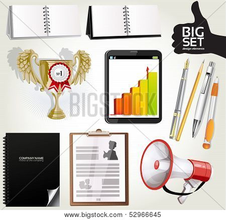 Big set design elements for your advertising 2