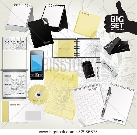 Big set design elements for your advertising 3