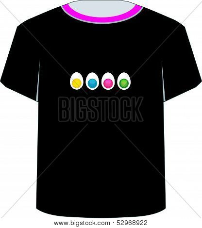 T Shirt Template- colorful eggs