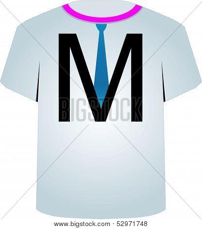 T Shirt Template- letter M