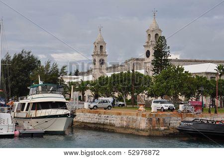 The Royal Navy Dockyard in Bermuda