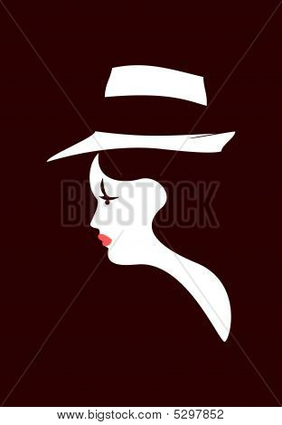 Girl With Fedora Hat