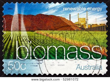 Postage Stamp Australia 2004 Biomass Energy, Renewable Energy