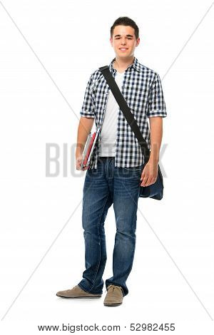 Smiling Teenager With A Schoolbag