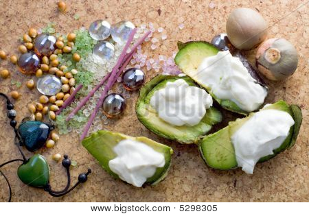 Avocado  Stonefruit Colourful Gem And  Incense