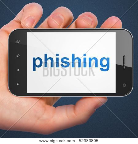Protection concept: Phishing on smartphone