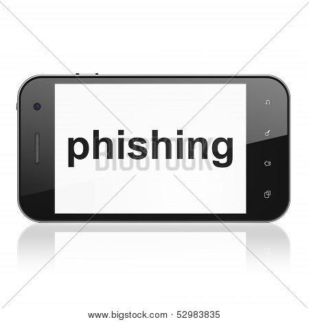 Privacy concept: Phishing on smartphone