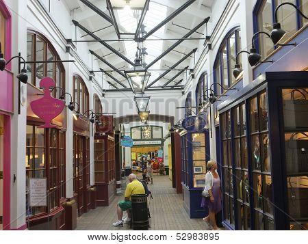 The Clocktower Mall at Royal Navy Dockyard in Bermuda