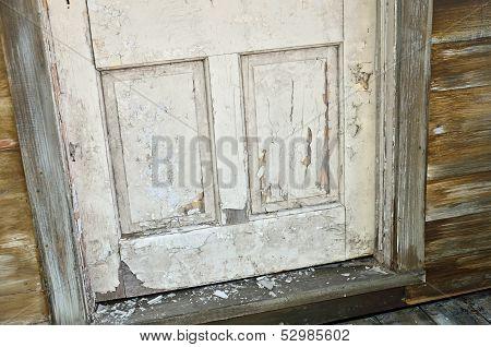 Aged weathered door