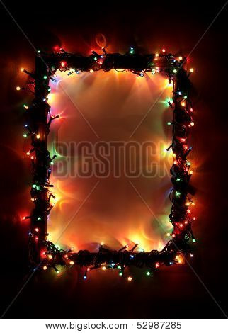 Christmas lights, abstract color background.