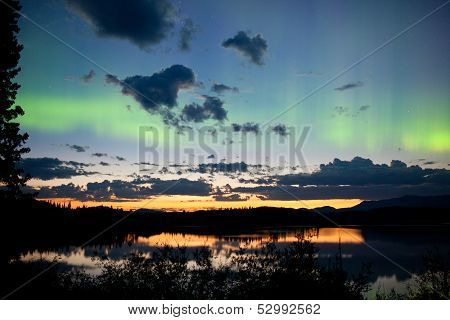 Midnight Summer Northern Lights Aurora Borealis