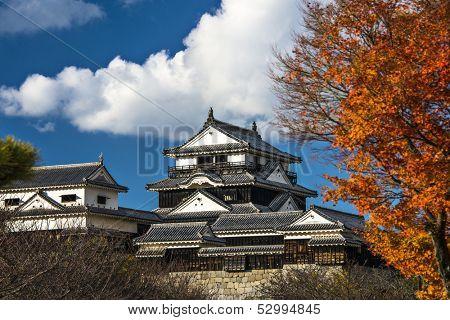 Matsuyama Catle in Matsuyama, Japan.