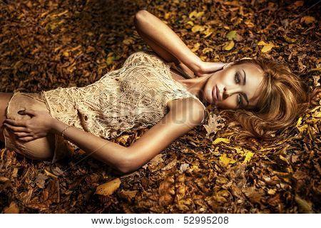 Portrait Of Beautiful Brunette Girl.