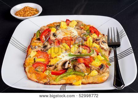Hot Fresh Vegetarian Flatbread Pizza