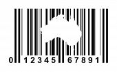 Australia shopping bar code isolated on white background.
