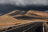 pic of canary-islands  - Winding road across the Fuerteventura Island in the Canary Islands Spain - JPG