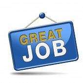 picture of job well done  - great job icon - JPG