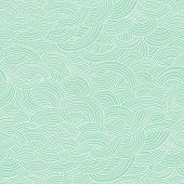 Seamless abstract hand-drawn pattern, waves background. Seamless pattern can be used for wallpaper, pattern fills, web page background,surface textures. Gorgeous seamless floral background poster
