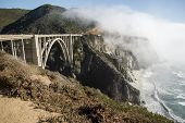 image of pch  - The Bixby Bridge on the west coast of California in Big Sur - JPG