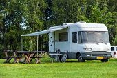 picture of trailer park  - Camping Vampir near to Bran castle Romania - JPG