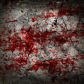 stock photo of murder  - grunge background with some red blood splatter on it - JPG