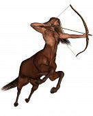 foto of archer  - Sagittarius the centaur archer representing the ninth sign of the Zodiac  - JPG