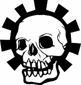 Постер, плакат: Halo череп Gear