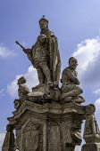 pic of sceptre  - King statue Saint John of Nepomuk in Kutna Hora Czech Republic - JPG
