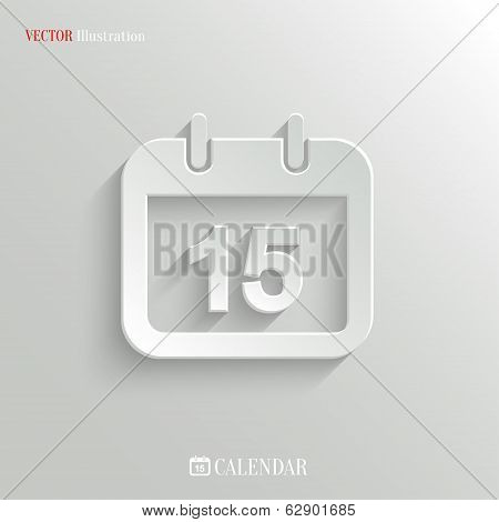 Calendar Icon - Vector Web Background