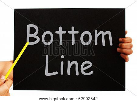 Bottom Line Blackboard Means Net Earnings Per Share