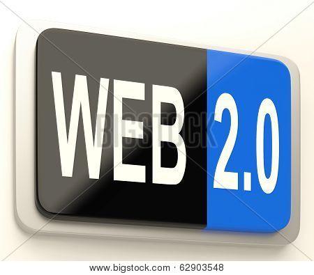 Web 2.0 Button Means Dynamic User Www