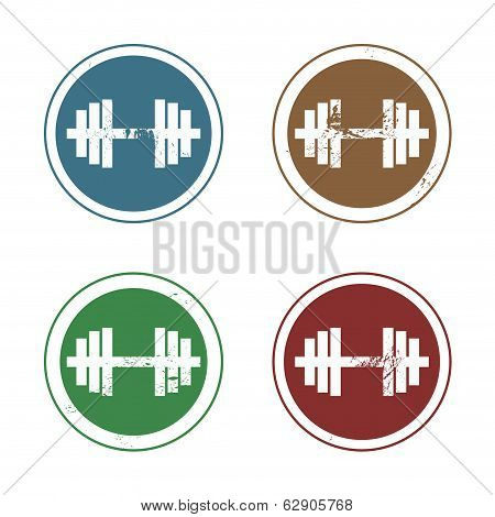 Vector barbell stamp