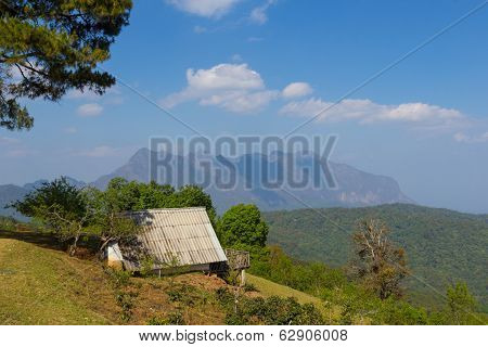 Residence On Mountain View Background At Doi Mae Taman Chiang Mai At Thailand