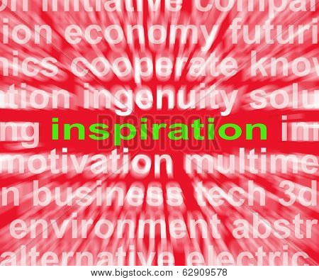 Inspiration Word Shows New And Original Ideas