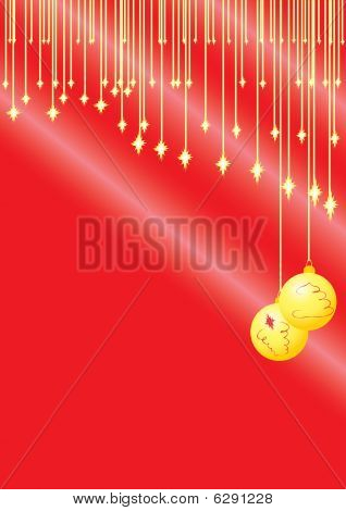 Christmas card gold decoration