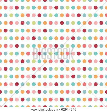 Colorful flat repeat wall paper polka dot design.