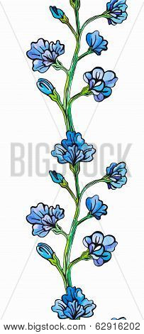 Flower border seamless pattern