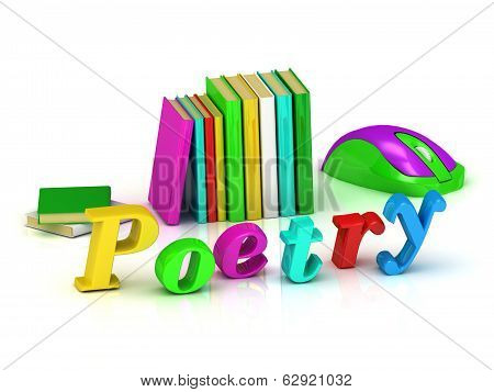 Poetry - 3D Inscription Bright Volume Letter