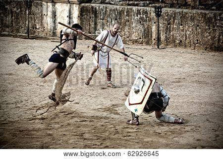 Retiarius Gladiator Jump