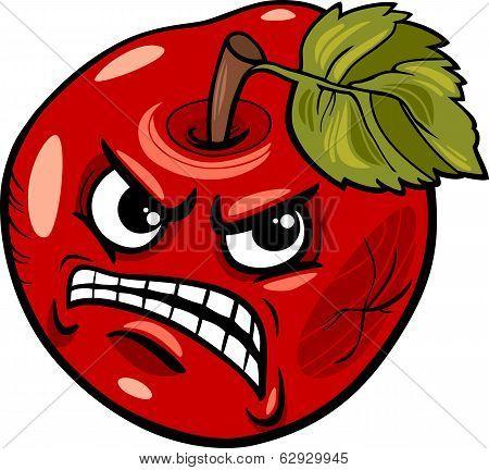Bad Apple Saying Cartoon Illustration
