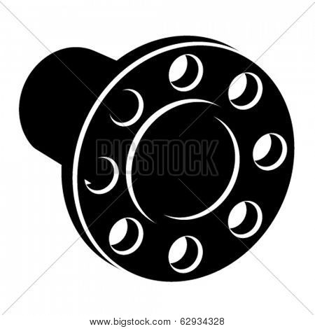 vector black pipe flange silhouette