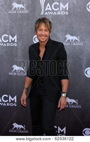 LAS VEGAS - APR 6:  Keith Urban at the 2014 Academy of Country Music Awards - Arrivals at MGM Grand Garden Arena on April 6, 2014 in Las Vegas, NV