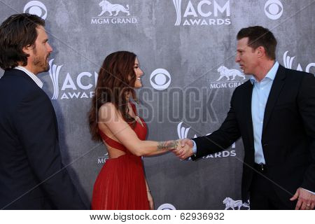 LAS VEGAS - APR 6:  Joshua Morrow, Cassadee Pope, Steve Burton at the 2014 Academy of Country Music Awards - Arrivals at MGM Grand Garden Arena on April 6, 2014 in Las Vegas, NV