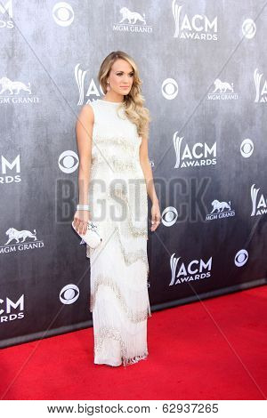 LAS VEGAS - APR 6:  Carrie Underwood at the 2014 Academy of Country Music Awards - Arrivals at MGM Grand Garden Arena on April 6, 2014 in Las Vegas, NV