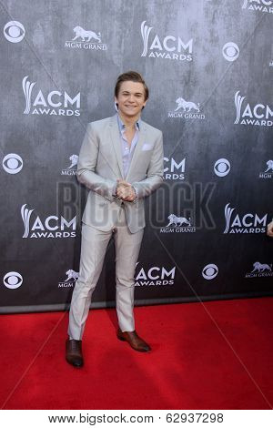 LAS VEGAS - APR 6:  Hunter Hayes at the 2014 Academy of Country Music Awards - Arrivals at MGM Grand Garden Arena on April 6, 2014 in Las Vegas, NV
