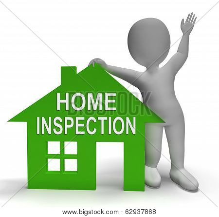 Home Inspection House Shows Examine Property Close-up