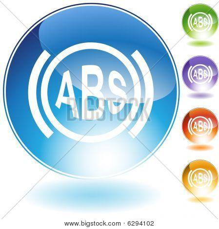 Anti-Lock Braking System Crystal Icon