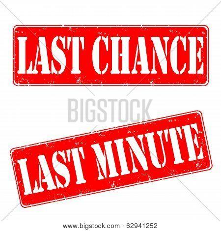 Last Chance, Last Minute