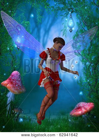 Fairy With Glow Flies